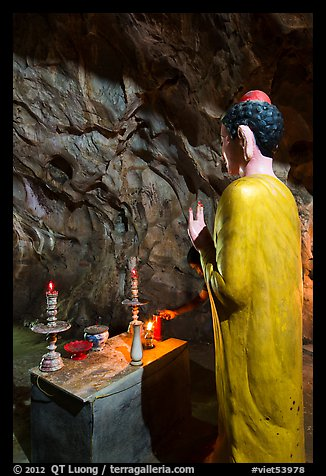Picture Photo Buddha Statue In Narrow Cave Marble