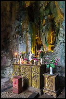 Bhuddist altar at the entrance of Huyen Khong cave. Da Nang, Vietnam (color)