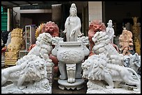 Stone sculptures for sale, Marble Mountains. Da Nang, Vietnam (color)