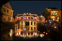 Japanese Bridge on lantern festival night. Hoi An, Vietnam (color)