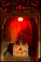Monkey altar lit by lantern, Japanese Bridge. Hoi An, Vietnam (color)