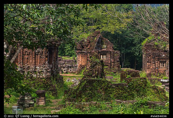 Hindu temple archeological complex. My Son, Vietnam (color)
