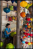 Paper lantern workshop. Hoi An, Vietnam (color)