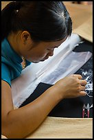 Silk embroider. Hoi An, Vietnam (color)