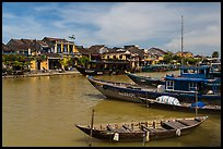 Boats, ancient town. Hoi An, Vietnam (color)