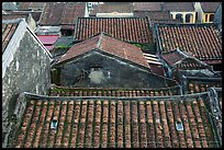Ancient tile rooftops. Hoi An, Vietnam ( color)