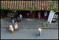 Street activity from above. Hoi An, Vietnam (color)
