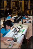 Silk Embroidery workshop. Hoi An, Vietnam (color)