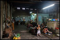 Family kitchen area, Quan Thang house. Hoi An, Vietnam (color)
