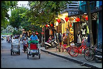 Street at dusk. Hoi An, Vietnam (color)