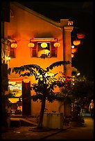 Townhouse with lanterns. Hoi An, Vietnam (color)