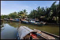 River channel and boats near Cam Kim Village. Hoi An, Vietnam ( color)