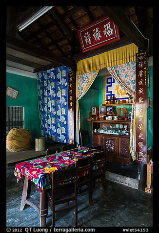Interior of Cam Kim village home. Hoi An, Vietnam (color)
