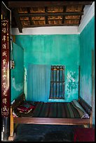 Wooden bed with straw mat, Cam Kim Village. Hoi An, Vietnam ( color)