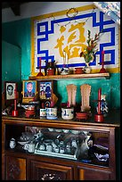 Ancestral altar, Cam Kim Village home. Hoi An, Vietnam ( color)