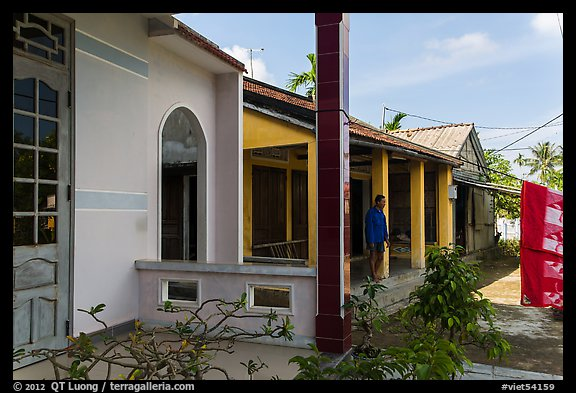 Three generations of homes, Cam Kim Village. Hoi An, Vietnam (color)