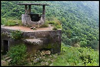 Abandonned bunker, Hai Van pass. Vietnam (color)