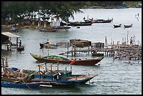 Boats and piers. Vietnam ( color)