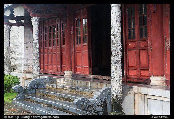 Backside of Palace of Supreme Peace, citadel. Hue, Vietnam (color)
