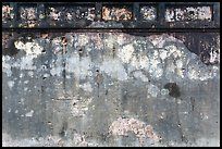 Wall with bullet holes from 1968 Tet Offensive fighting, citadel. Hue, Vietnam ( color)