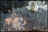 Weathered wall with bullet holes, citadel. Hue, Vietnam (color)