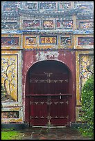 Decorated gate, imperial citadel. Hue, Vietnam (color)