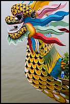 Prow of dragon boat. Hue, Vietnam ( color)