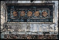 Row of Longevity chinese characters, Tu Duc Tomb. Hue, Vietnam (color)