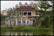 Newly built temple, Thanh Toan. Hue, Vietnam (color)