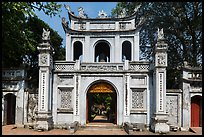 Entrance gate, Temple of the Litterature. Hanoi, Vietnam (color)