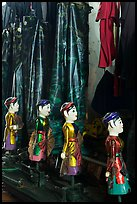 Puppets and waterproof bibs, Thang Long Theatre. Hanoi, Vietnam ( color)