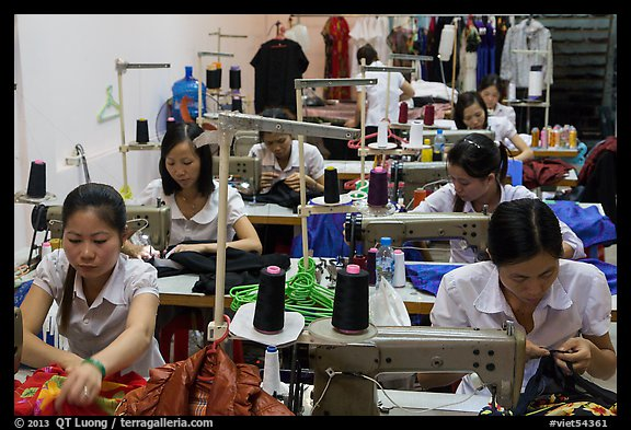 Sewing factory. Vietnam (color)
