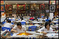 Workers in embroidery factory. Vietnam ( color)