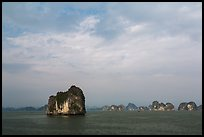 Limestone islets. Halong Bay, Vietnam ( color)
