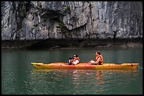 Paddlers. Halong Bay, Vietnam ( color)