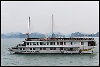 Indochina Sails tour boat. Halong Bay, Vietnam (color)