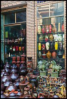 Storefront with ceramic vases. Bat Trang, Vietnam (color)