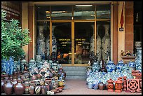 Ceramic store front with vases of all sizes. Bat Trang, Vietnam (color)