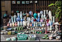 Ceramics for sale. Bat Trang, Vietnam (color)