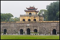 Doan Mon Gate, Thang Long Citadel. Hanoi, Vietnam (color)