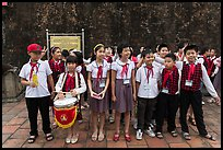Children of Communist youth organization. Hanoi, Vietnam (color)