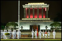 Flag folding ceremony, Ho Chi Minh Mausoleum. Hanoi, Vietnam (color)
