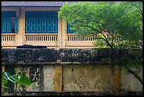 Weathered walls. Hanoi, Vietnam (color)