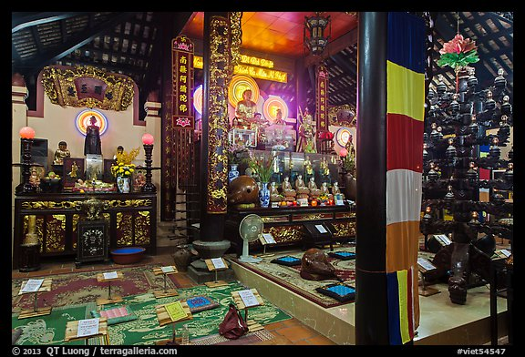 Inside Phung Son Pagoda, district 11. Ho Chi Minh City, Vietnam (color)
