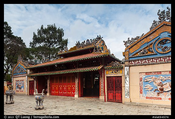 Temple dedicated to Marshal Le Van Duyet , Binh Thanh district. Ho Chi Minh City, Vietnam (color)