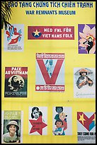 Posters from several countries, War Remnants Museum, district 3. Ho Chi Minh City, Vietnam (color)