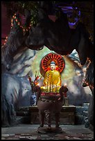 Buddha in grotto, Quoc Tu Pagoda, district 10. Ho Chi Minh City, Vietnam ( color)