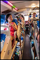 Tourists on sleeper bus. Vietnam ( color)