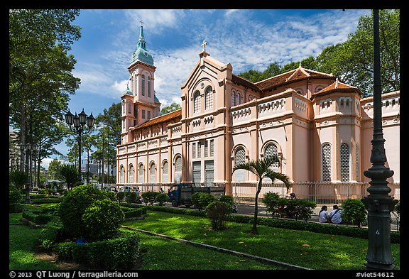 Joan of Arch church and park, district 5. Ho Chi Minh City, Vietnam (color)