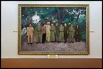 Painting of Ho Chi Minh with comrades. Ho Chi Minh City, Vietnam (color)